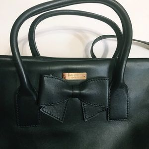 Kate Spade black bow bag
